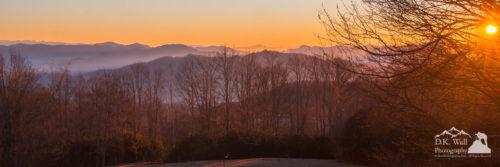 Deep Orange Sunrise on a cold morning