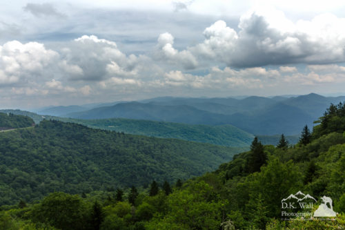 hazy skies from waterrock knob