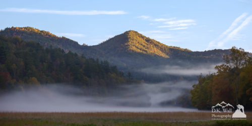 Ground Fog in Cataloochee Valley - October 12 2016