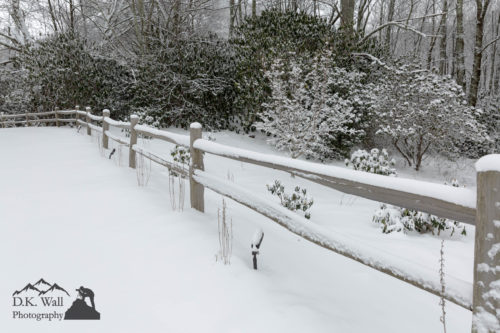 Fence In Snow - March 14 2017