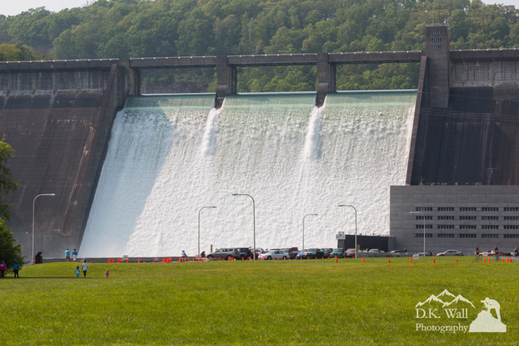 A long view of the rarely open floodgates
