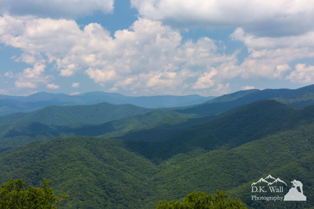 The Great Smoky Mountains as viewed from Heintooga Road.