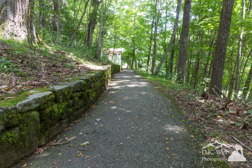 A handicap accessible pathway to the Masonic Shrine.