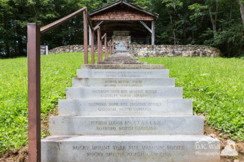 The steps to the shrine were completed in 1948.