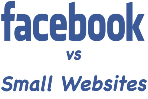 Facebook versus small websites