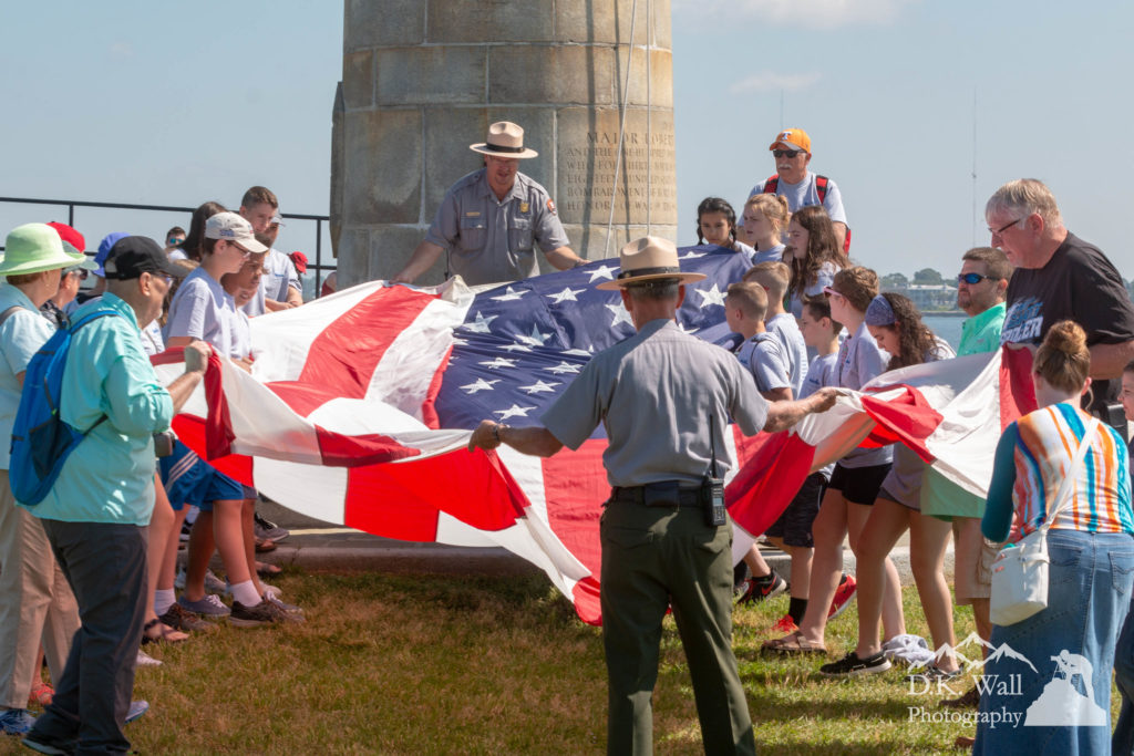 Flag Raising Ceremony at Fort Sumter
