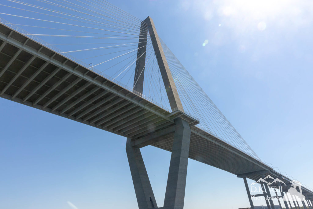 A view of the Arthur Ravenal Jr. Bridge you don't normally see.