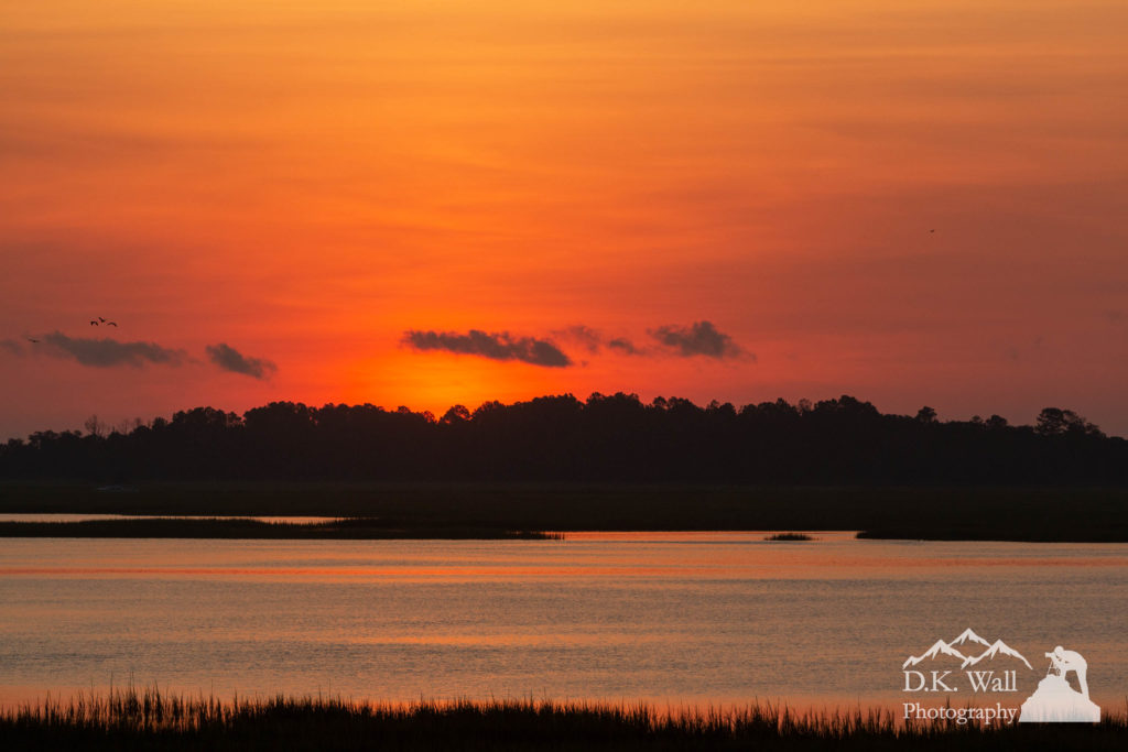 Sunrise over Drunken Jack Island