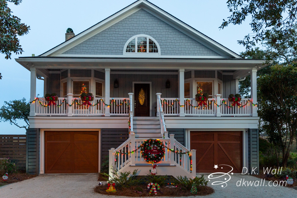 Our Murrells Inlet house last Christmas. What do you call the space at the bottom?